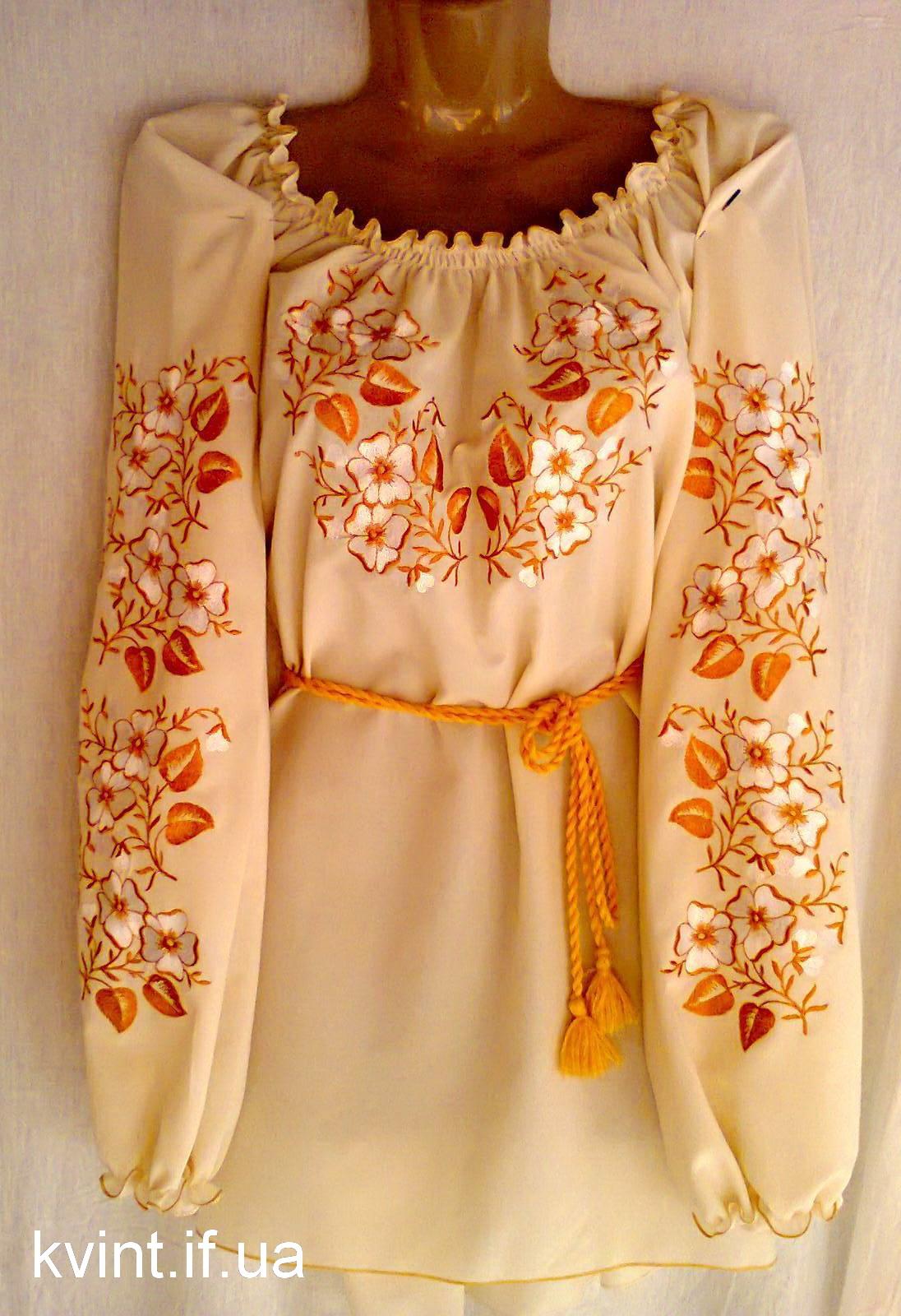 """Жіноча вишиванка """" Золота осінь """" М061 – Kvint d3a71f04fad53"""